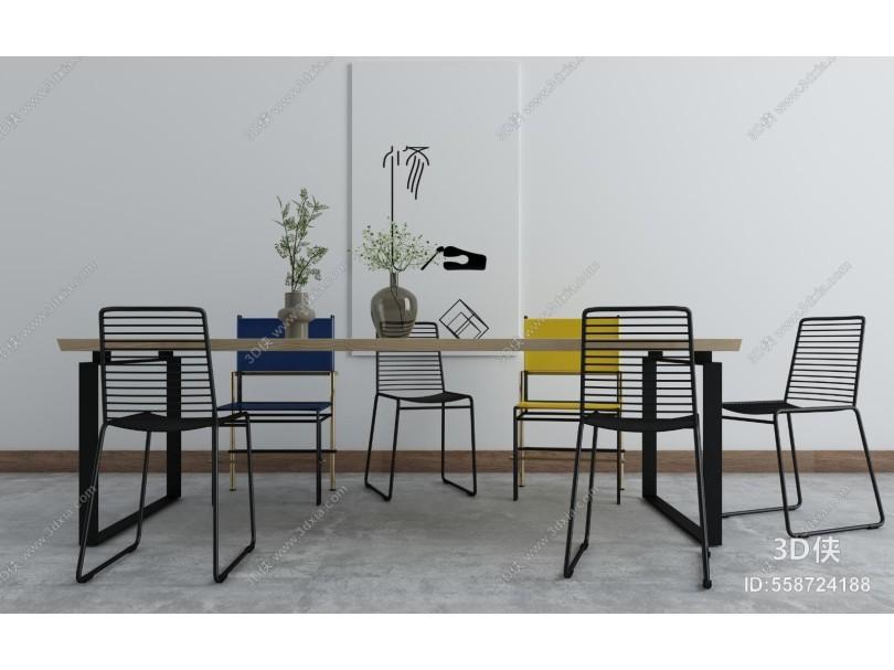 工业风格餐桌椅组合