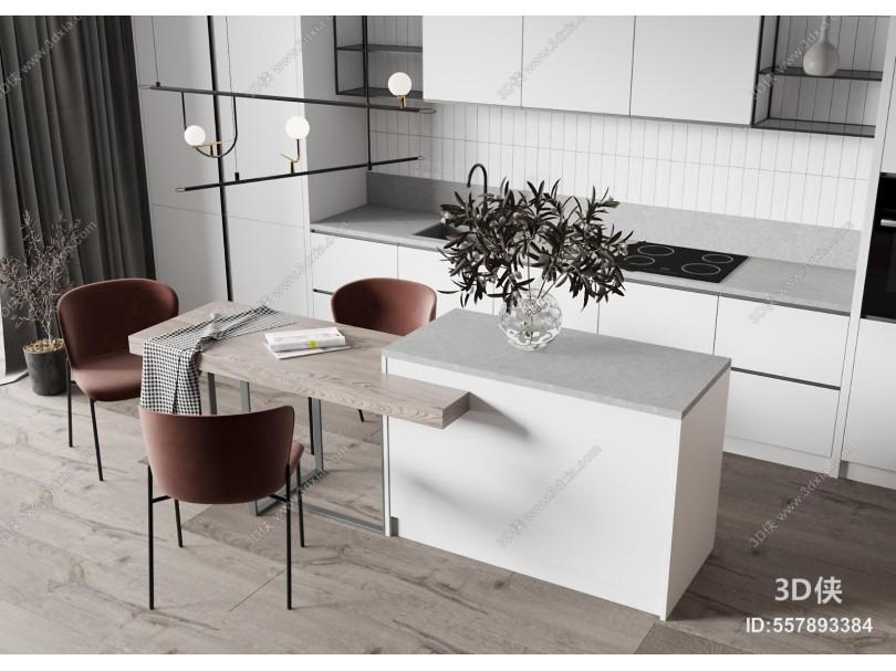 现代厨房 餐厅 橱柜