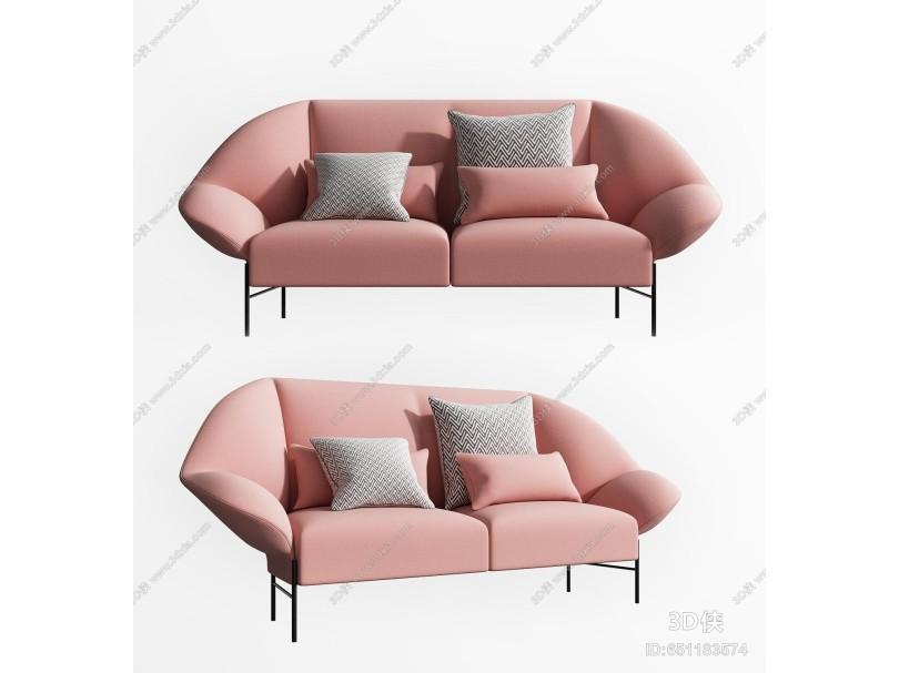 北欧双人沙发