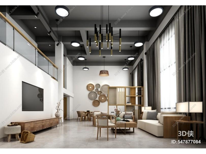 現代風格民宿會客廳