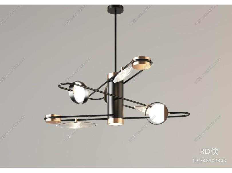 现代吊灯组合 创意吊灯 创新吊灯 艺术吊灯 客餐厅吊灯