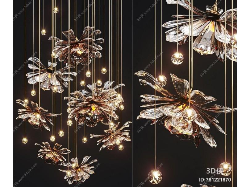 现代水晶花吊灯