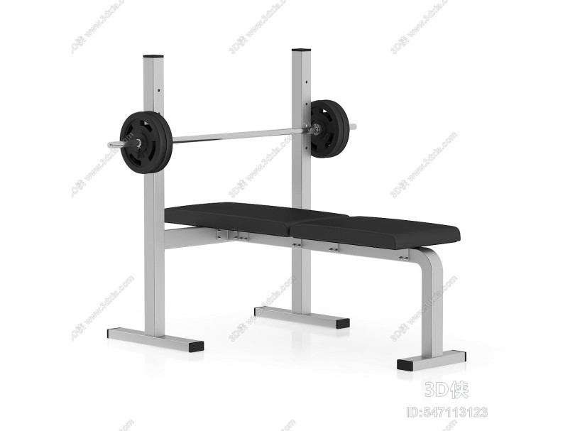 现代平板卧推健身器材