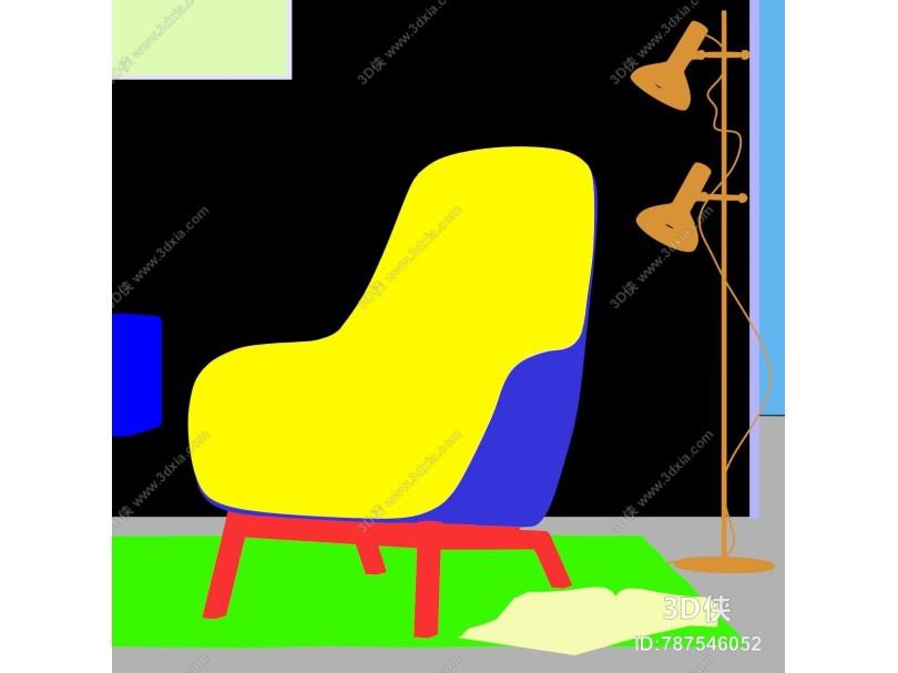 北欧风格布艺休闲椅
