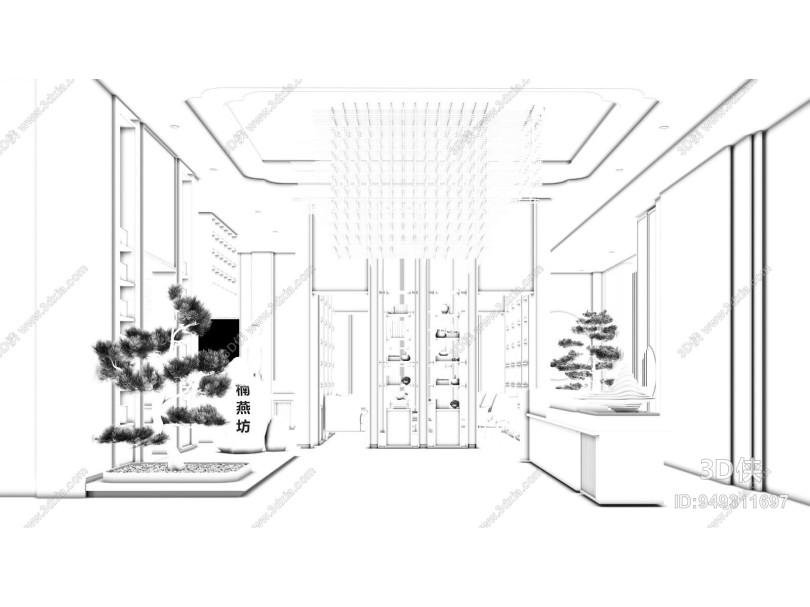 新中式售楼处大厅