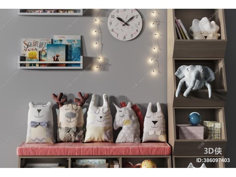 现代儿童玩具 柜子 吊灯