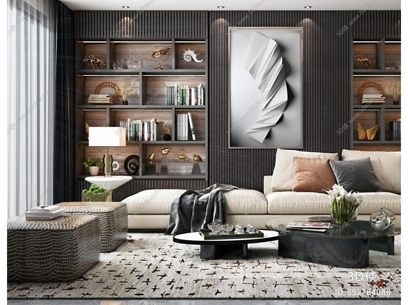 現代客廳 輕奢客廳 沙發組合