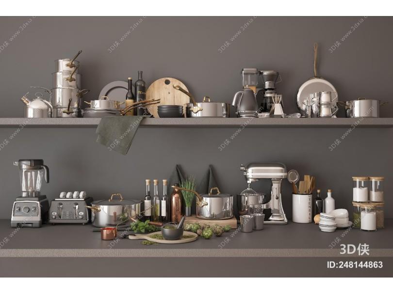 现代厨房用品 餐具摆件