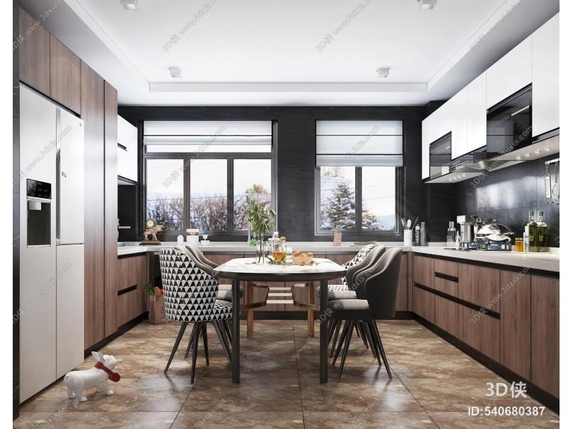 现代风格开放式厨房