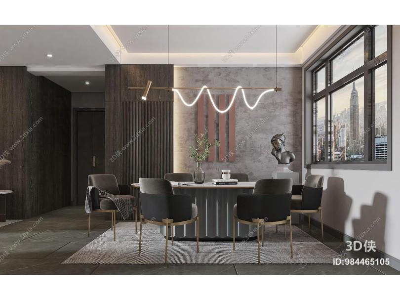 现代客厅 餐厅
