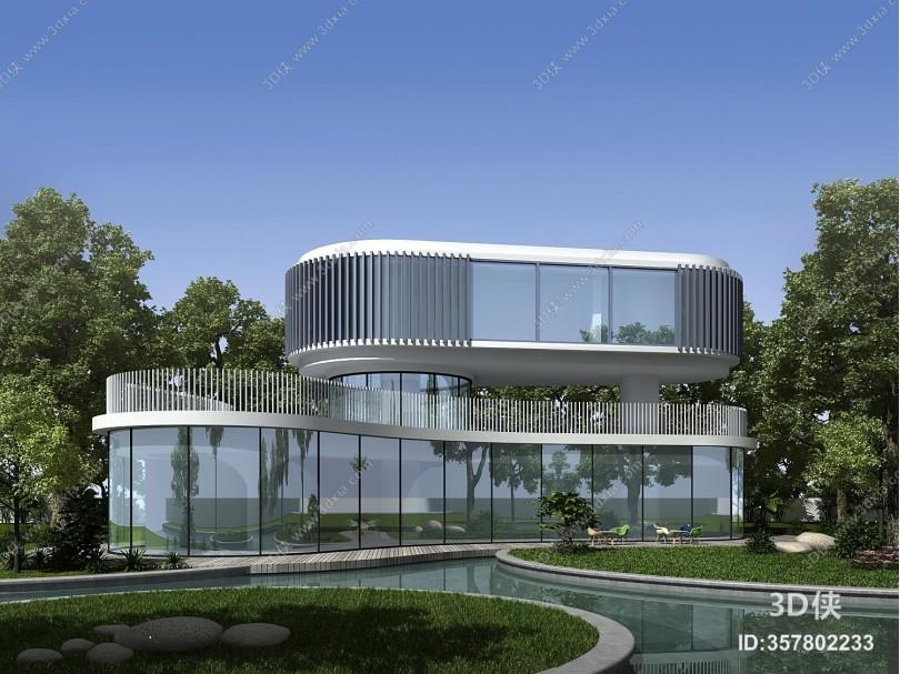 现代建筑 展馆 图书馆