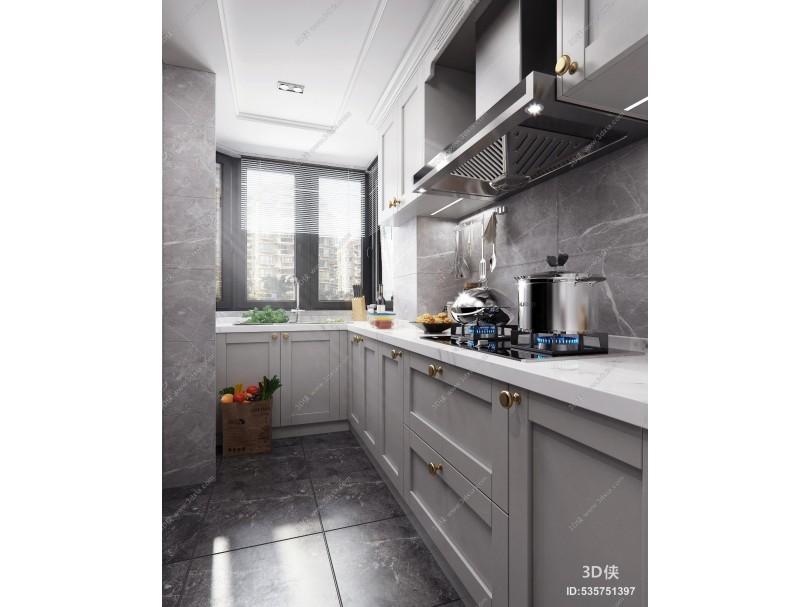 北欧厨房 橱柜厨房电器厨房用品