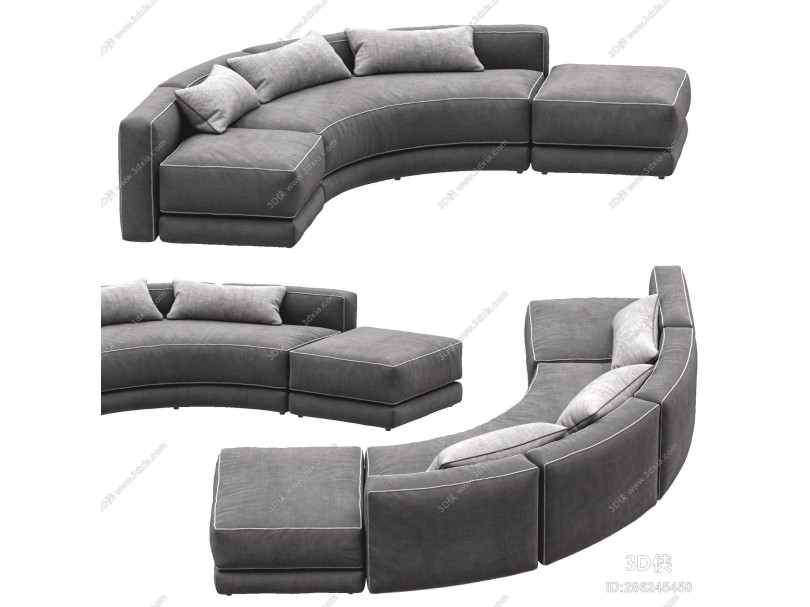 现代多人沙发