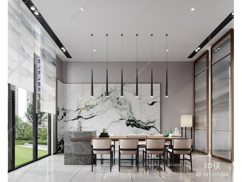 新中式接待室 茶室 签约室