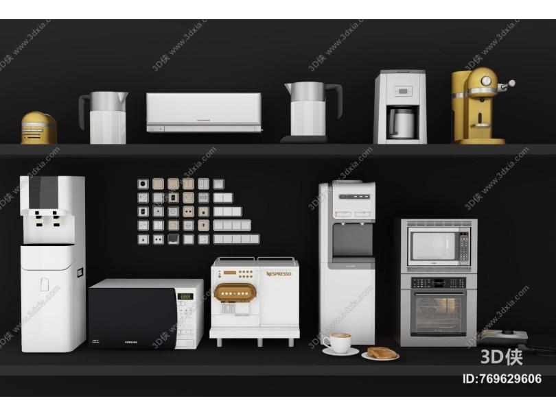 现代厨具组合 厨房电器 热水器 空调 净水机
