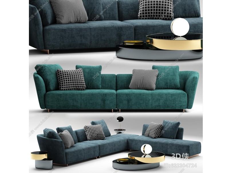 意大利Minotti米洛提现代沙发茶几组合