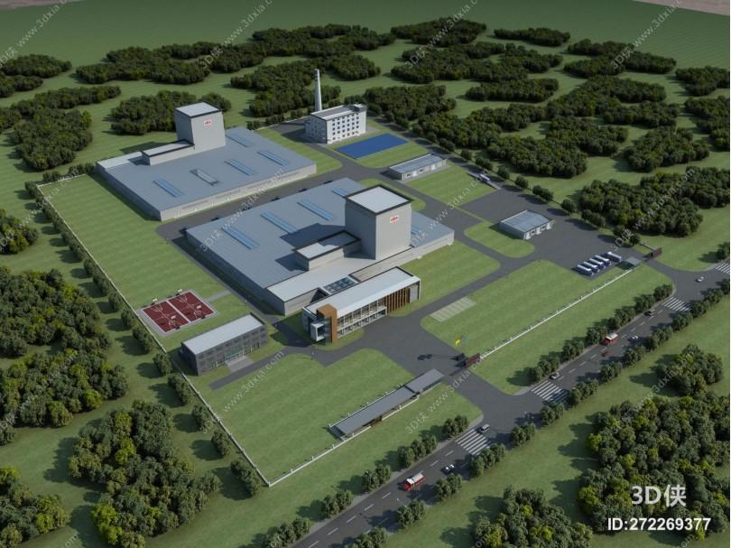 现代工业厂房 锅炉场 加工场