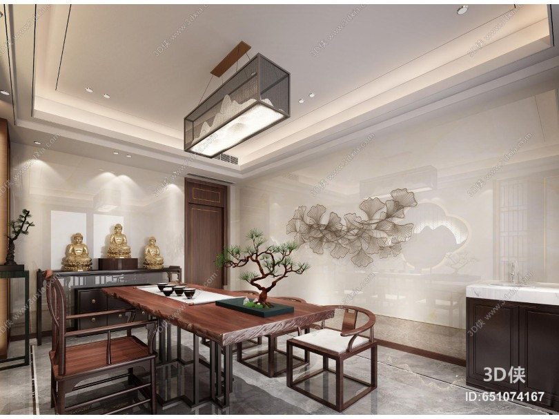 新中式别墅茶室