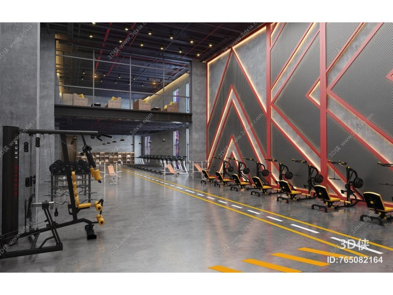 工业风健身房