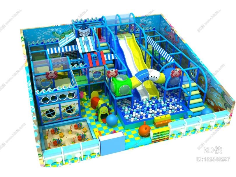 现代风格游乐园 淘气堡 儿童乐园