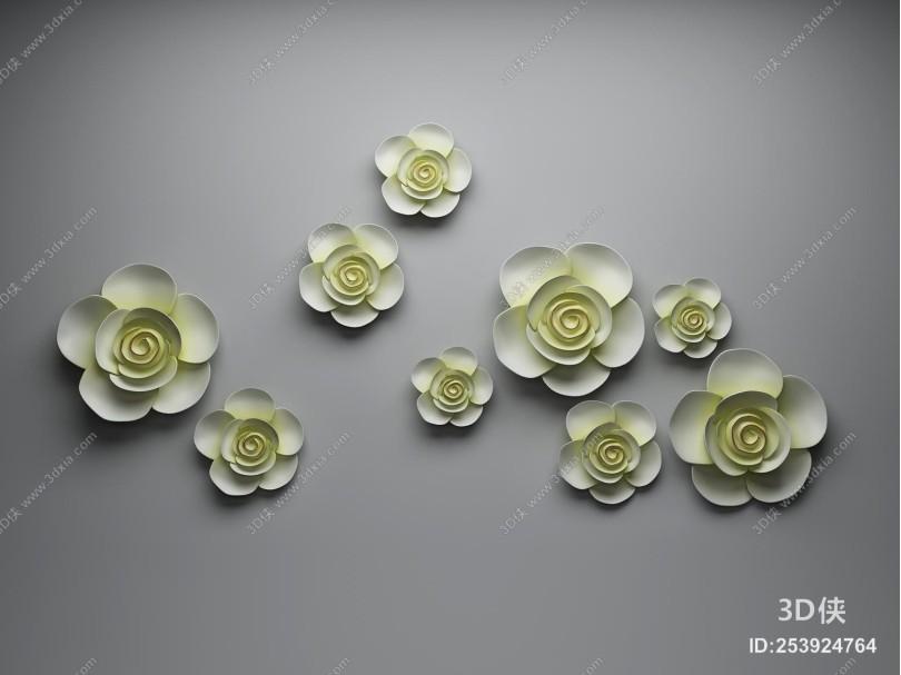 新中式装饰挂花