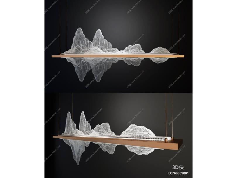 新中式轻奢创意吊灯