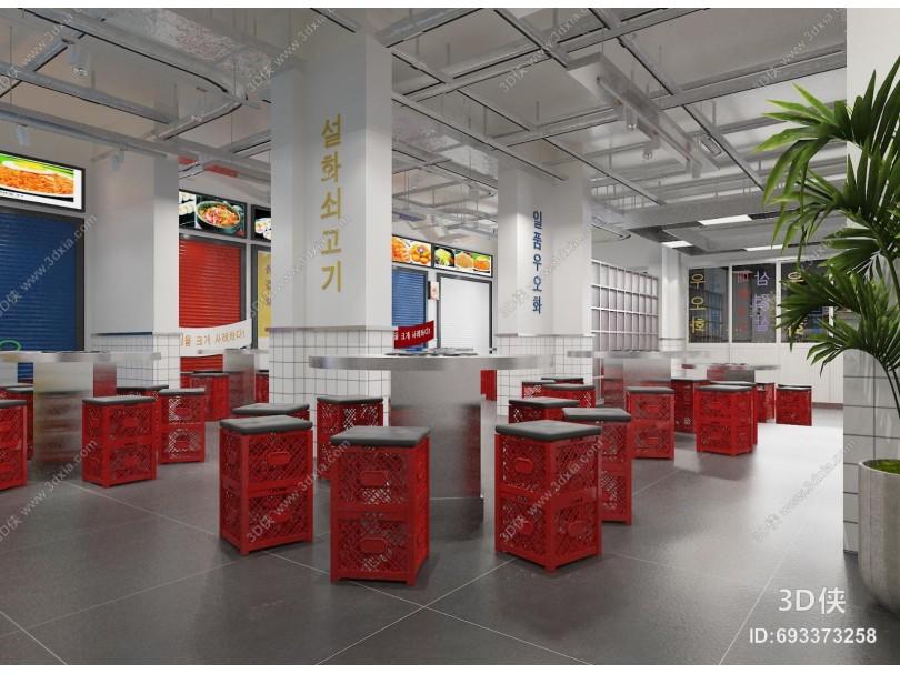 工业风烤肉店 吊灯 酒柜