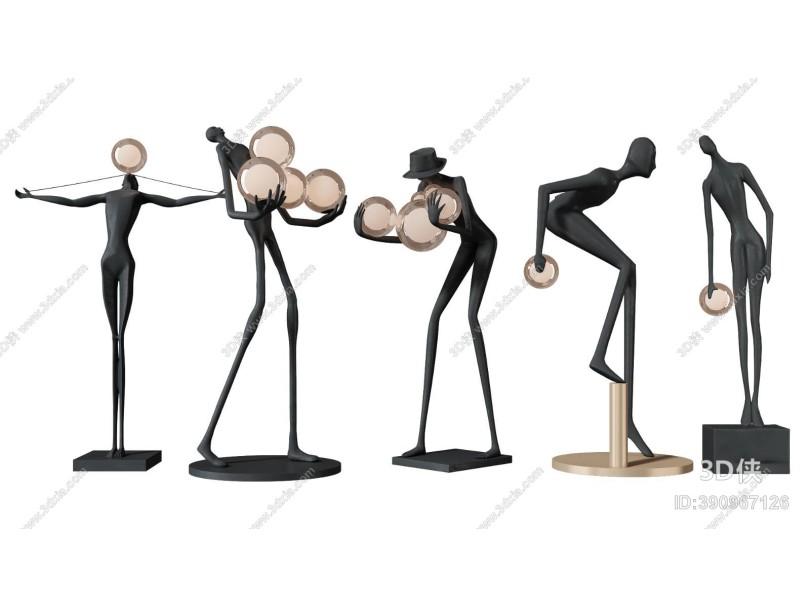 现代雕塑 饰品摆件 落地灯