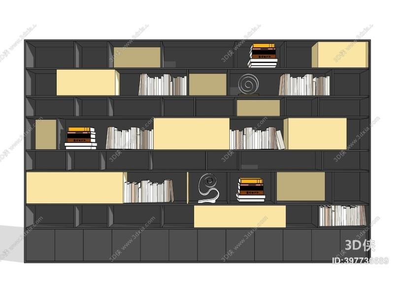 现代书柜 摆件