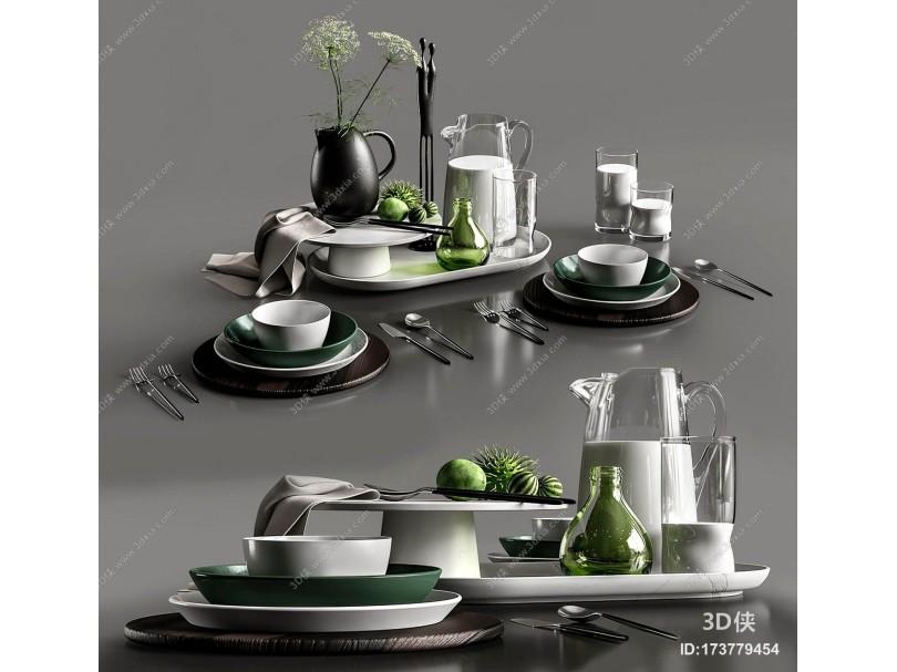 现代餐具摆件
