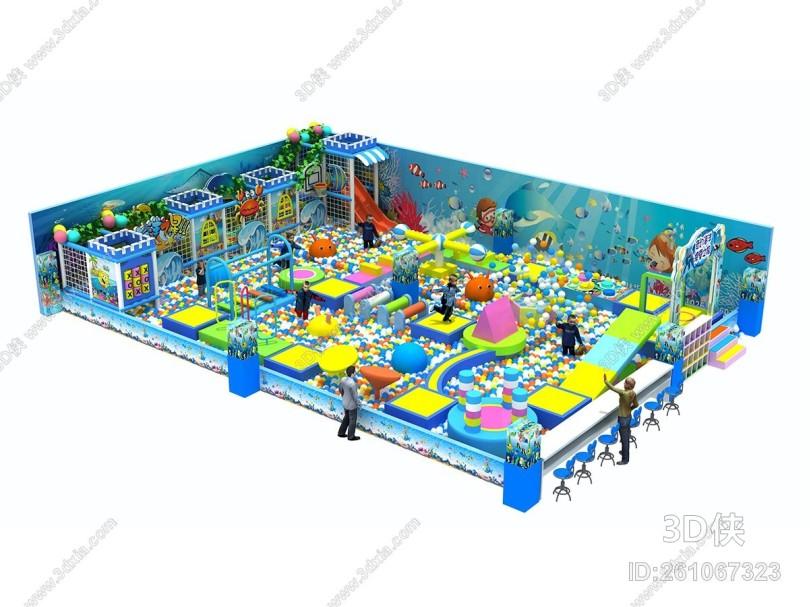 现代风格游乐场 儿童乐园闯关淘气堡