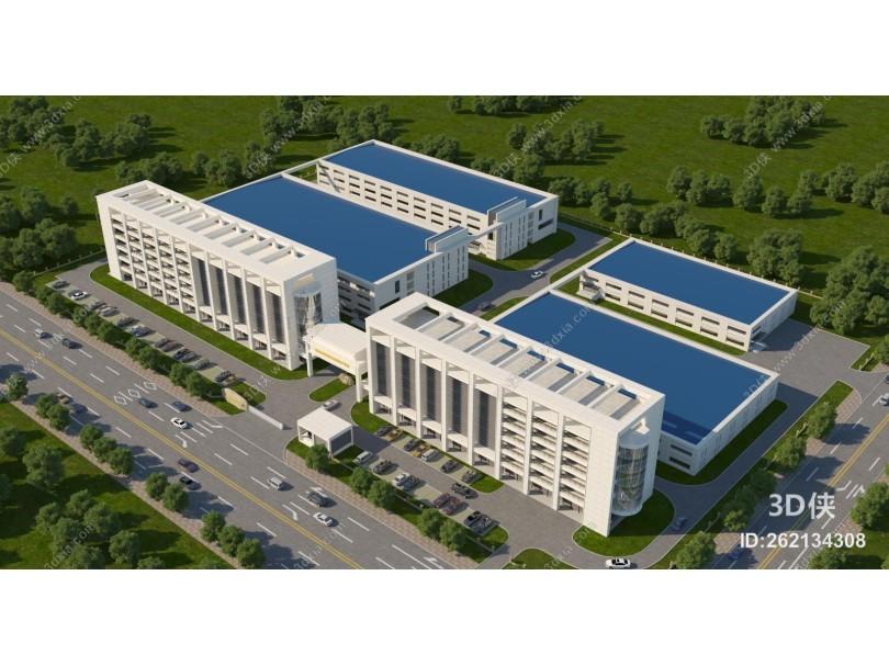 现代办公楼 工业园 办公楼