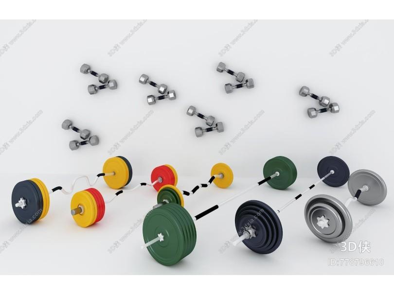 现代体育用品 健身器材哑铃组合