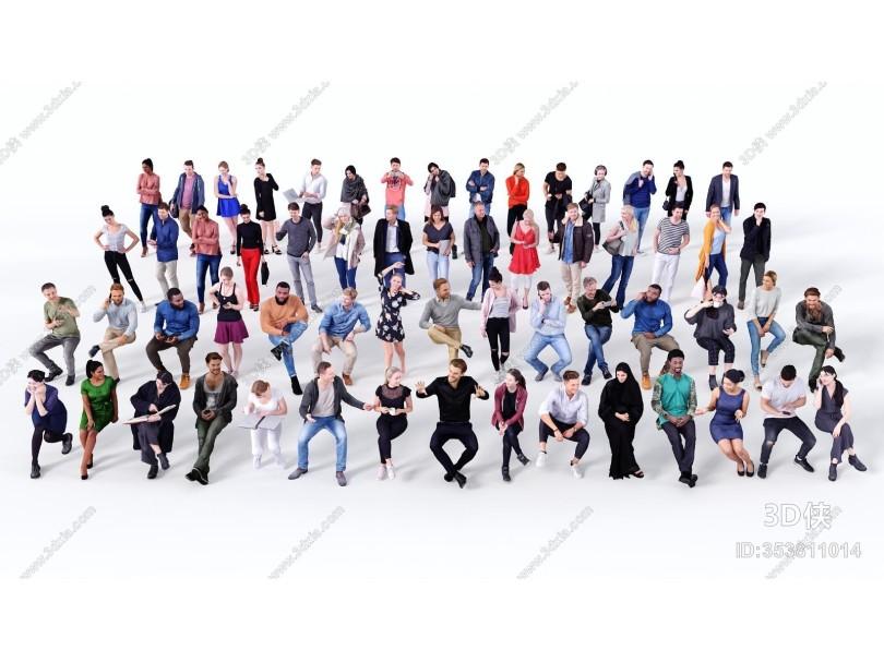 现代人物 多人 欧美人群