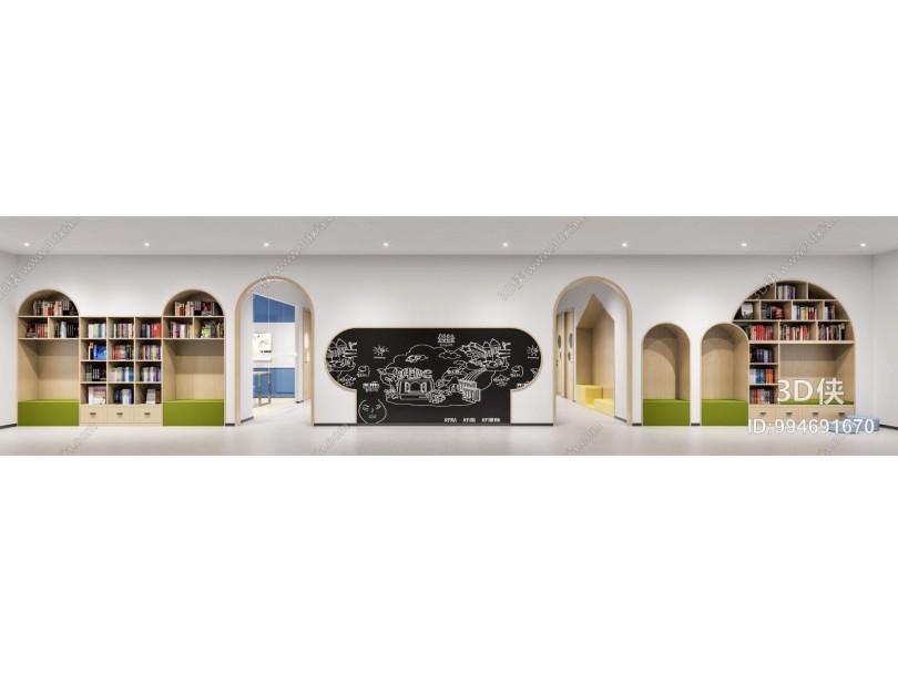现代儿童活动区 儿童图书馆 儿童教室