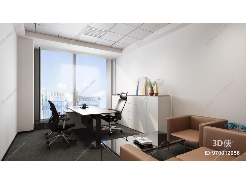 现代办公室 沙发 茶几