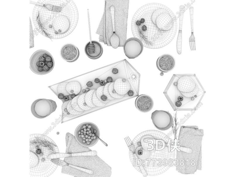 现代厨房用品组合