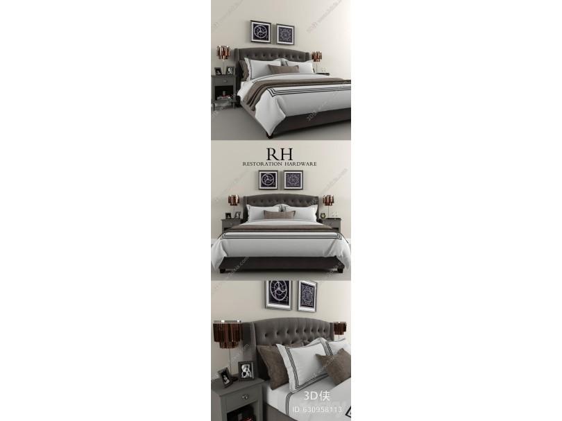 现代床床头柜
