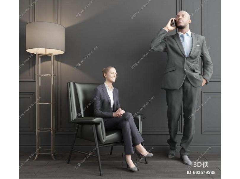 現代商務男性模特 美女人物