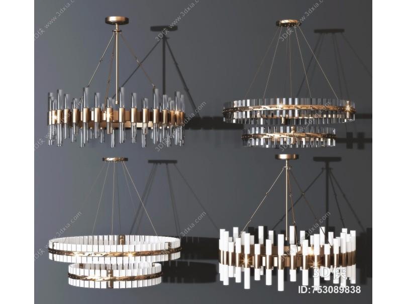 现代轻奢水晶吊灯组合