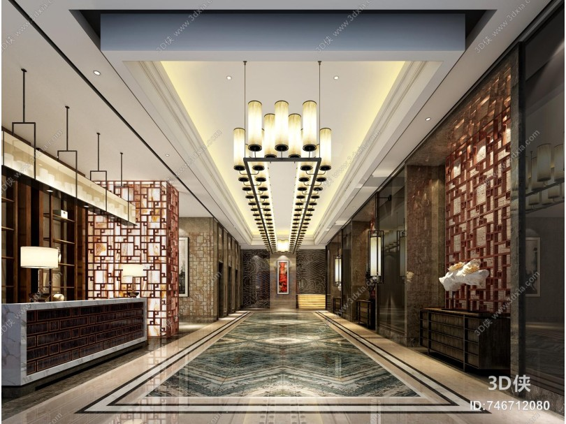 新中式酒店门厅
