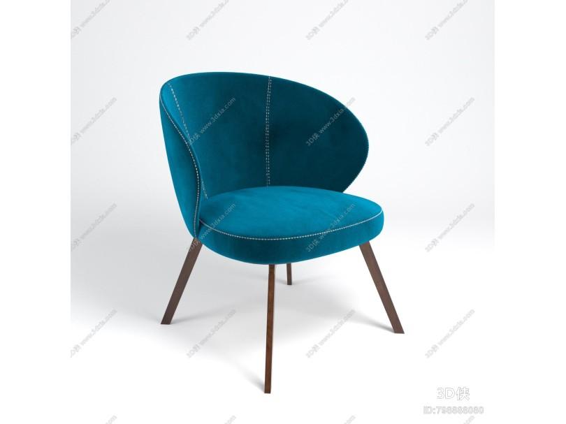 现代休闲椅 单人椅 扶手椅