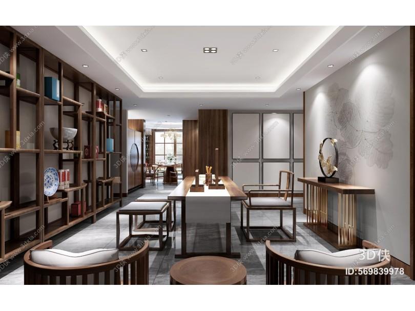 新中式休息娱乐室 茶室