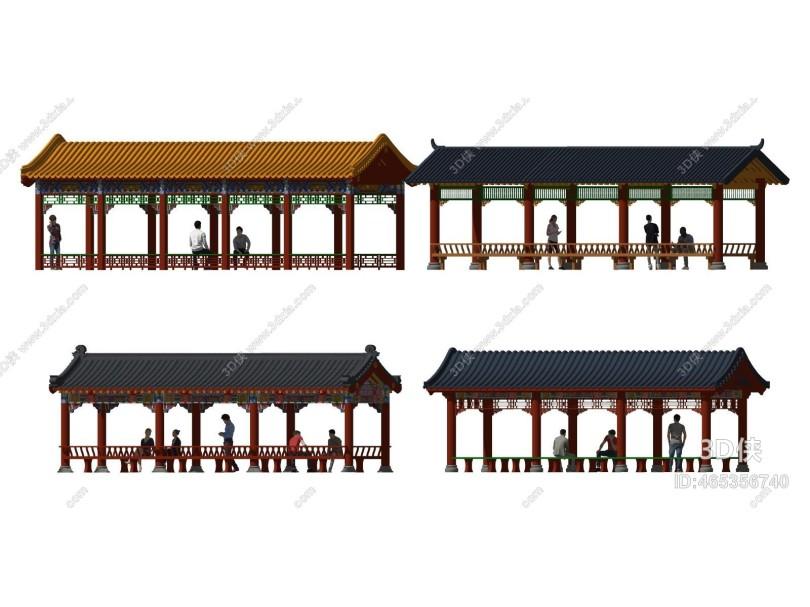 中式廊架 长廊