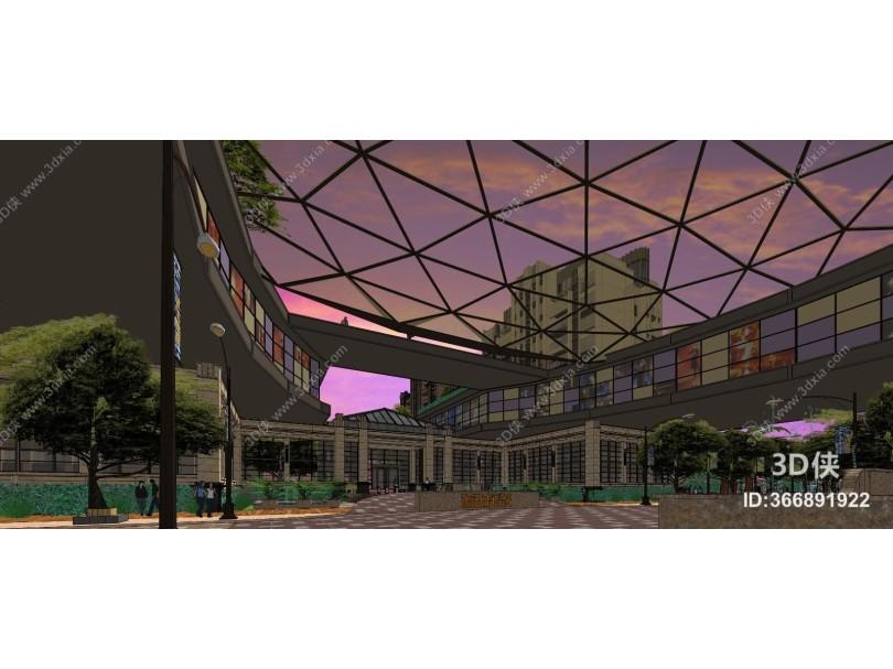 现代建筑商业综合体