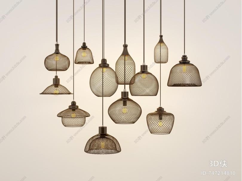 新中式吊灯 金属吊灯
