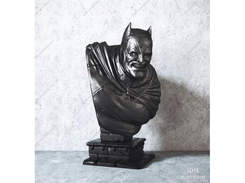 现代蝙蝠侠雕塑装饰摆件