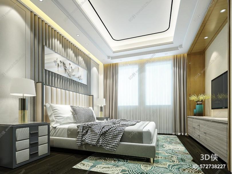 新中式家居卧室