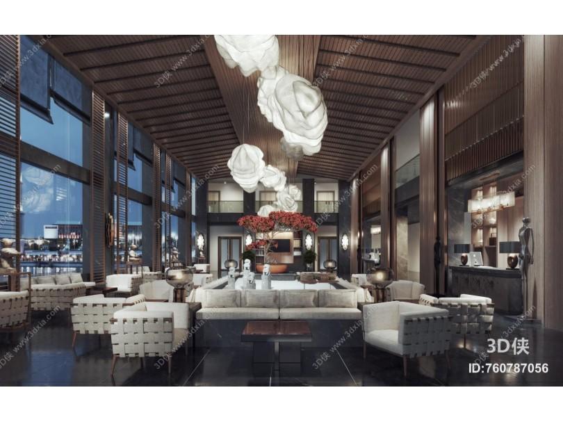 新中式风格酒店大堂
