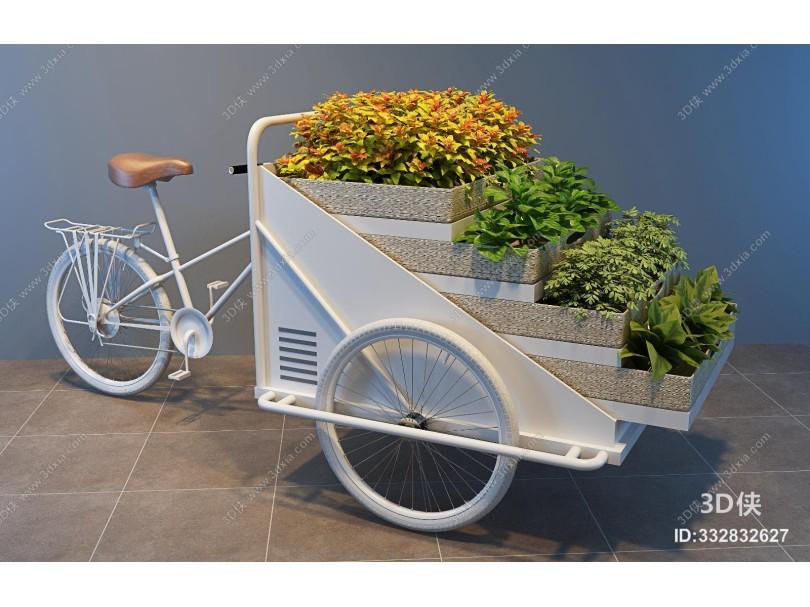 现代三轮花车